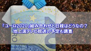 『ユーロ2020』組み合わせと日程はどうなの?【地上波テレビ放送の予定も調査】